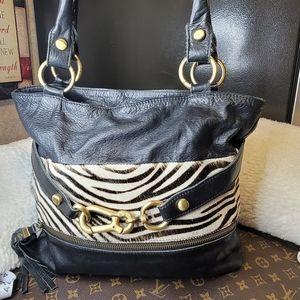 Innue calf Hair and leather purse